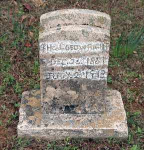 WRIGHT, THOS. GEO. - Washington County, Arkansas | THOS. GEO. WRIGHT - Arkansas Gravestone Photos