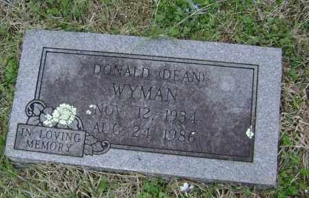 WYMAN, DONALD DEAN - Washington County, Arkansas | DONALD DEAN WYMAN - Arkansas Gravestone Photos