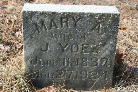 YOES, MARY A - Washington County, Arkansas | MARY A YOES - Arkansas Gravestone Photos