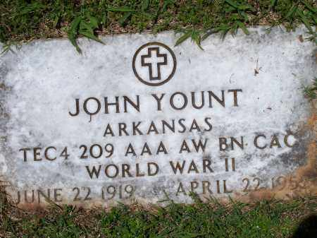 YOUNT (VETERAN WWII), JOHN - Washington County, Arkansas | JOHN YOUNT (VETERAN WWII) - Arkansas Gravestone Photos