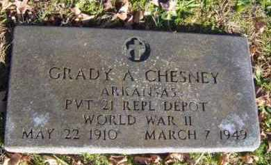 CHESNEY (VETERAN WWII), GRADY A - Washington County, Arkansas | GRADY A CHESNEY (VETERAN WWII) - Arkansas Gravestone Photos