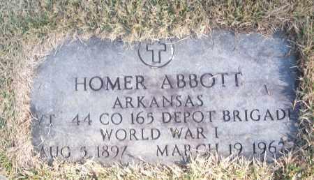 ABBOTT  (VETERAN WWI), HOMER - White County, Arkansas | HOMER ABBOTT  (VETERAN WWI) - Arkansas Gravestone Photos