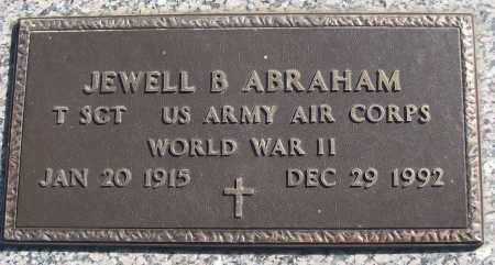ABRAHAM (VETERAN WWII), JEWELL B - White County, Arkansas | JEWELL B ABRAHAM (VETERAN WWII) - Arkansas Gravestone Photos