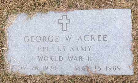 ACREE (VETERAN WWII), GEORGE W - White County, Arkansas | GEORGE W ACREE (VETERAN WWII) - Arkansas Gravestone Photos