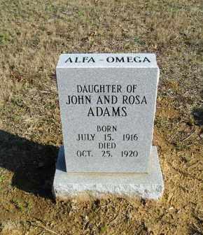 ADAMS, ALFA-OMEGA - White County, Arkansas | ALFA-OMEGA ADAMS - Arkansas Gravestone Photos