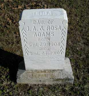 ADAMS, LIDA - White County, Arkansas | LIDA ADAMS - Arkansas Gravestone Photos