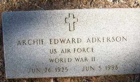 ADKERSON (VETERAN WWII), ARCHIE EDWARD - White County, Arkansas | ARCHIE EDWARD ADKERSON (VETERAN WWII) - Arkansas Gravestone Photos