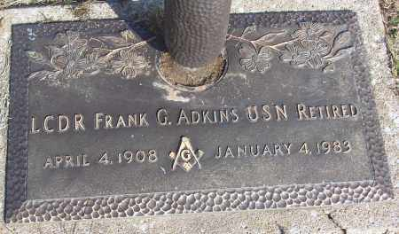 ADKINS (VETERAN), FRANK G - White County, Arkansas | FRANK G ADKINS (VETERAN) - Arkansas Gravestone Photos