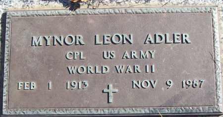 ADLER (VETERAN WWII), MYNOR LEON - White County, Arkansas | MYNOR LEON ADLER (VETERAN WWII) - Arkansas Gravestone Photos