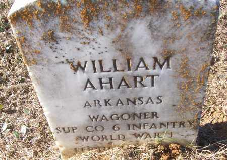 AHART (VETERAN WWI), WILLIAM - White County, Arkansas | WILLIAM AHART (VETERAN WWI) - Arkansas Gravestone Photos