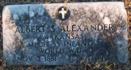 ALEXANDER (VETERAN WWI), ALBERT S - White County, Arkansas | ALBERT S ALEXANDER (VETERAN WWI) - Arkansas Gravestone Photos