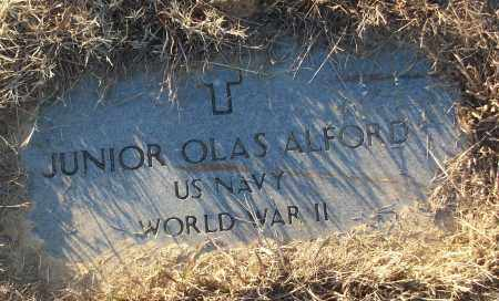 ALFORD (VETERAN WWII), JUNIOR OLAS - White County, Arkansas | JUNIOR OLAS ALFORD (VETERAN WWII) - Arkansas Gravestone Photos