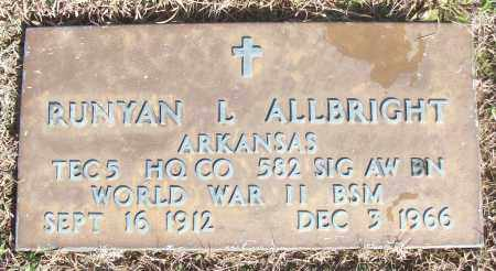 ALLBRIGHT (VETERAN WWII), RUNYAN L - White County, Arkansas | RUNYAN L ALLBRIGHT (VETERAN WWII) - Arkansas Gravestone Photos