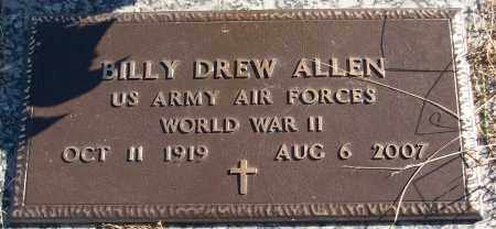 ALLEN (VETERAN WWII), BILLY DREW - White County, Arkansas | BILLY DREW ALLEN (VETERAN WWII) - Arkansas Gravestone Photos