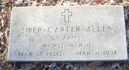 ALLEN (VETERAN WWII), SIBER CARTER - White County, Arkansas | SIBER CARTER ALLEN (VETERAN WWII) - Arkansas Gravestone Photos