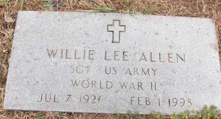 ALLEN (VETERAN WWII), WILLIE LEE - White County, Arkansas | WILLIE LEE ALLEN (VETERAN WWII) - Arkansas Gravestone Photos