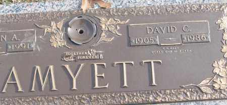 AMYETT (VETERAN 2 WARS), DAVID C - White County, Arkansas | DAVID C AMYETT (VETERAN 2 WARS) - Arkansas Gravestone Photos