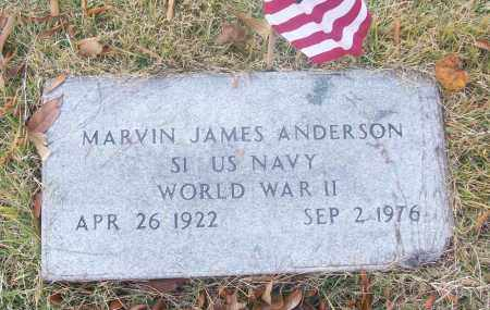 ANDERSON  (VETERAN WWII), MARVIN JAMES - White County, Arkansas | MARVIN JAMES ANDERSON  (VETERAN WWII) - Arkansas Gravestone Photos