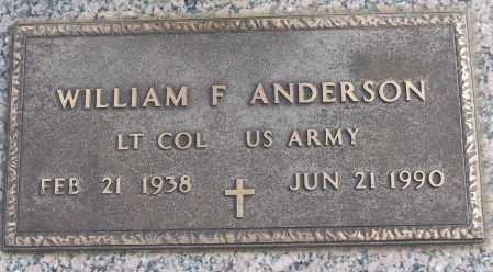 ANDERSON (VETERAN), WILLIAM F - White County, Arkansas | WILLIAM F ANDERSON (VETERAN) - Arkansas Gravestone Photos