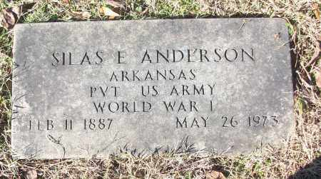 ANDERSON (VETERAN WWI), SILAS E - White County, Arkansas | SILAS E ANDERSON (VETERAN WWI) - Arkansas Gravestone Photos