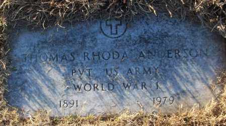 ANDERSON (VETERAN WWI), THOMAS RHODA - White County, Arkansas | THOMAS RHODA ANDERSON (VETERAN WWI) - Arkansas Gravestone Photos