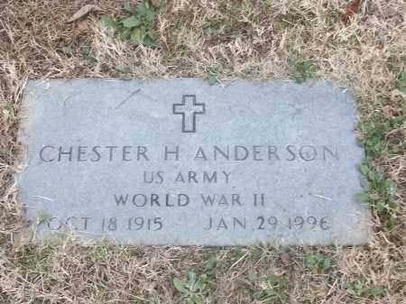 ANDERSON (VETERAN WWII), CHESTER H - White County, Arkansas | CHESTER H ANDERSON (VETERAN WWII) - Arkansas Gravestone Photos