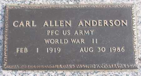 ANDERSON (VETERAN WWII), CARL ALLEN - White County, Arkansas | CARL ALLEN ANDERSON (VETERAN WWII) - Arkansas Gravestone Photos