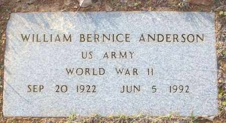 ANDERSON (VETERAN WWII), WILLIAM BERNICE - White County, Arkansas | WILLIAM BERNICE ANDERSON (VETERAN WWII) - Arkansas Gravestone Photos