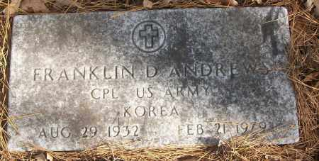 ANDREWS (VETERAN KOR), FRANKLIN D - White County, Arkansas | FRANKLIN D ANDREWS (VETERAN KOR) - Arkansas Gravestone Photos