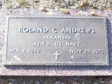 ANDREWS (VETERAN), ROLAND C - White County, Arkansas | ROLAND C ANDREWS (VETERAN) - Arkansas Gravestone Photos