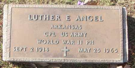 ANGEL  (VETERAN WWII), LUTHER E. - White County, Arkansas   LUTHER E. ANGEL  (VETERAN WWII) - Arkansas Gravestone Photos