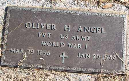 ANGEL (VETERAN WWI), OLIVER H - White County, Arkansas | OLIVER H ANGEL (VETERAN WWI) - Arkansas Gravestone Photos