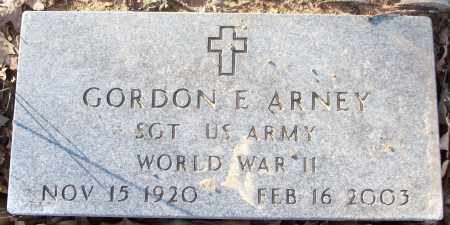 ARNEY (VETERAN WWII), GORDON E - White County, Arkansas | GORDON E ARNEY (VETERAN WWII) - Arkansas Gravestone Photos