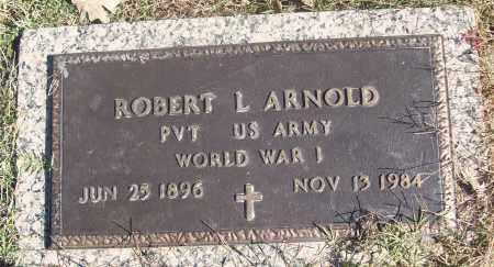 ARNOLD  (VETERAN WWI), ROBERT L. - White County, Arkansas | ROBERT L. ARNOLD  (VETERAN WWI) - Arkansas Gravestone Photos