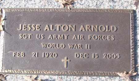 ARNOLD (VETERAN WWII), JESSE ALTON - White County, Arkansas | JESSE ALTON ARNOLD (VETERAN WWII) - Arkansas Gravestone Photos