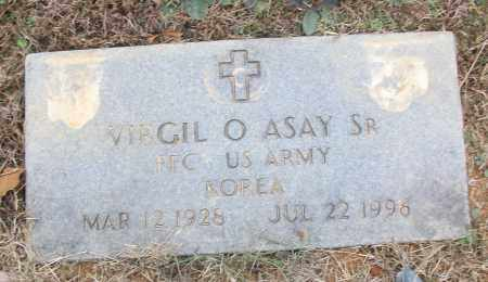 ASAY, SR (VETERAN KOR), VIRGIL O - White County, Arkansas | VIRGIL O ASAY, SR (VETERAN KOR) - Arkansas Gravestone Photos