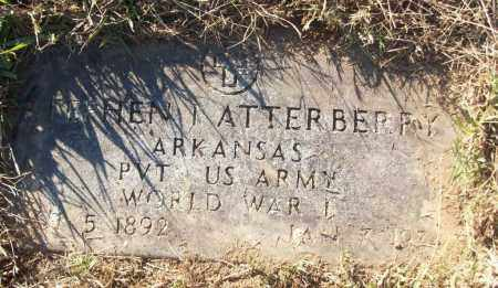 ATTERBERRY (VETERAN WWI), STEPHEN I - White County, Arkansas | STEPHEN I ATTERBERRY (VETERAN WWI) - Arkansas Gravestone Photos