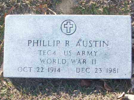 AUSTIN (VETERAN WWII), PHILLIP R - White County, Arkansas | PHILLIP R AUSTIN (VETERAN WWII) - Arkansas Gravestone Photos