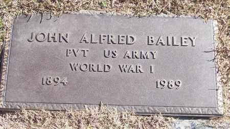 BAILEY (VETERAN WWI), JOHN ALFRED - White County, Arkansas | JOHN ALFRED BAILEY (VETERAN WWI) - Arkansas Gravestone Photos