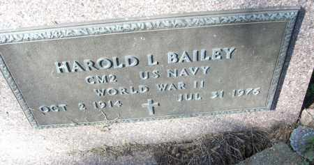 BAILEY (VETERANS WWII), HAROLD L - White County, Arkansas | HAROLD L BAILEY (VETERANS WWII) - Arkansas Gravestone Photos