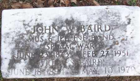 BAIRD (VETERAN SAW), JOHN W - White County, Arkansas | JOHN W BAIRD (VETERAN SAW) - Arkansas Gravestone Photos