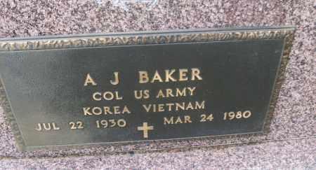 BAKER (VETERAN 2 WARS), A. J. - White County, Arkansas | A. J. BAKER (VETERAN 2 WARS) - Arkansas Gravestone Photos