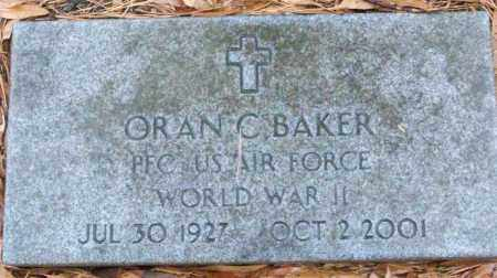 BAKER (VETERAN WWII), ORAN - White County, Arkansas | ORAN BAKER (VETERAN WWII) - Arkansas Gravestone Photos