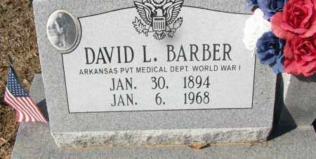 BARBER (VETERAN WWI), DAVID L - White County, Arkansas | DAVID L BARBER (VETERAN WWI) - Arkansas Gravestone Photos