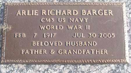 BARGER (VETERAN WWII), ARLIE RICHARD - White County, Arkansas | ARLIE RICHARD BARGER (VETERAN WWII) - Arkansas Gravestone Photos