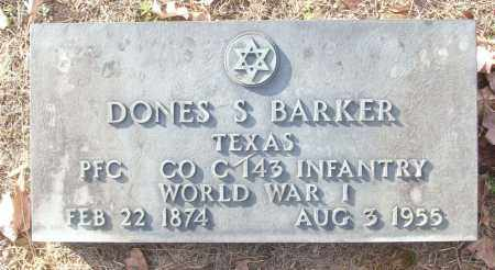 BARKER (VETERAN WWI), DONES S - White County, Arkansas | DONES S BARKER (VETERAN WWI) - Arkansas Gravestone Photos