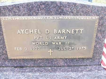 BARNETT  (VETERAN WWII), AYCHEL D - White County, Arkansas | AYCHEL D BARNETT  (VETERAN WWII) - Arkansas Gravestone Photos
