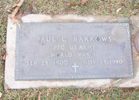 BARROWS  (VETERAN WWII), PAUL C - White County, Arkansas | PAUL C BARROWS  (VETERAN WWII) - Arkansas Gravestone Photos