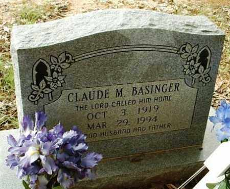 BASINGER, CLAUDE M - White County, Arkansas | CLAUDE M BASINGER - Arkansas Gravestone Photos