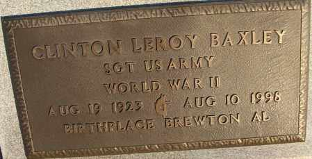BAXLEY (VETERAN WWII), CLINTON LEROY - White County, Arkansas | CLINTON LEROY BAXLEY (VETERAN WWII) - Arkansas Gravestone Photos